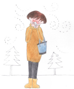 花粉症(やまぎわようこのイラスト)