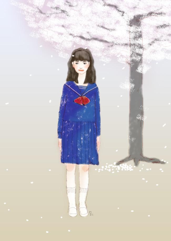 入学式 (やまぎわようこのイラスト)